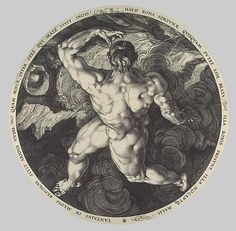 Hendrick Goltzius after Cornelis Cornelisz van Haarlem: Tantalus, Icarus, Phaeton, and Ixion: From the series The Four Disgracers (53.601.338) | Heilbrunn Timeline of Art History | The Metropolitan Museum of Art