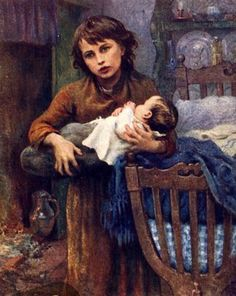 Virginie Demont-Breton, Genre scene with boy holding baby Holding Baby, Old Shows, Believe In God, The Kingdom Of God, Mother And Child, Art For Kids, Art Children, Mona Lisa, Childhood