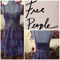 Free People Tapestry Dress Goregous dress,  side zipper, removable straps, has almost built in corset top, Love it but it's too small for me...  MAKE ME AN OFFER, I hate to see it hanging in my closet not being worn!!! Free People Dresses Mini