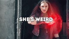 She's weird (you is wrong, Hill. She is AWESOME) >>> Well, weird and awesome go together...TOGETHER...;)