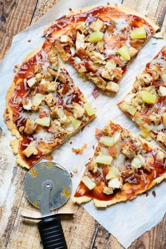 Gluten free BBQ chicken, bacon and pineapple flatbread. Best flatbread I have ever made! Gluten free with no sacrifice on taste!(Whole Chicken Bacon) Pizza Recipes, Gluten Free Recipes, Chicken Recipes, Chicken Bacon, Top Recipes, Family Recipes, Diet Recipes, Recipies, Ricotta Pizza