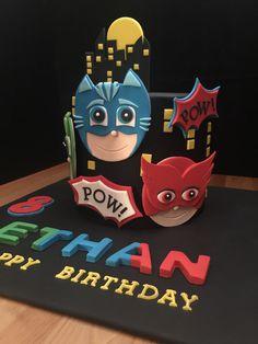 PJ Masks...owlette, catboy and gekko! #baketalesbyweinandpaiks Baketalesbywp.com www.facebook.com/baketales
