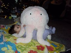 Squishable Octopus also doubles as a baby blanket! #squishable #cutengeeky