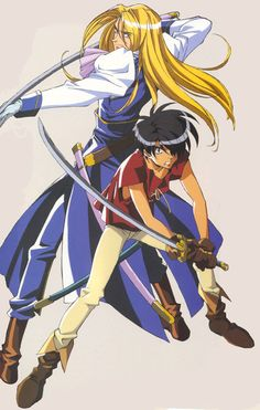Escaflowne // Allen and Van. I think I'm going to have to rewatch this again :p