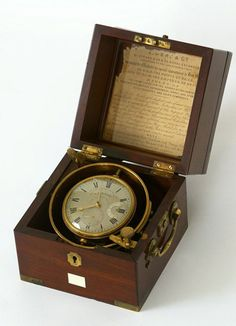 William Reid. Early 19th century marine chronometer (c. 1815).  Get free teaching aids and homework resources for Carry On, Mr. Bowditch by Jean Lee Latham at www.LitWitsWorkshops.com/free-resources/ We also offer hands-on, sensory enrichment guides!