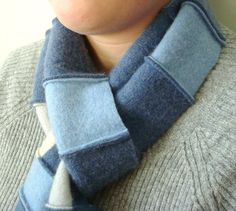 Cashmere scarf by WormeWoole on etsy.