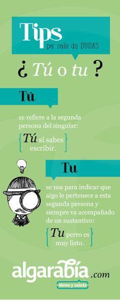 ¿Tú o tu? #tipdelengua #español #consejo