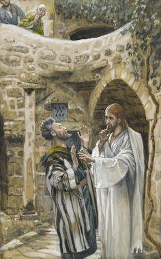 James Tissot - Jésus guérit un possédé muet