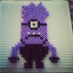 Evil Minion Despicable Me perler beads by lindaeriksson87