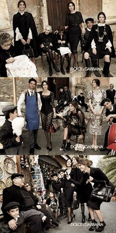 Dolce & Gabbana  Models: Bianca Balti, Monica Bellucci, and Bianca Brandolini  Photographer: Giampaolo Sgura