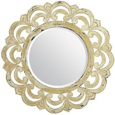Ivory Ornate Mirror from Pier 1.  Stay tuned, this will be in my living room soon!