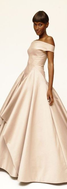Incredible dress by Zac Posen Resort 2015. As with all fashion there will be copies made that may be more affordable for your wedding and your bridesmaids gowns use this and all couture as inspiration because it's it would be wonderful for your bridesmaids to wear