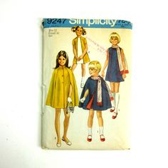Childs Size 12 Dress Cape and Scarf 70s by AttysSproutVintage