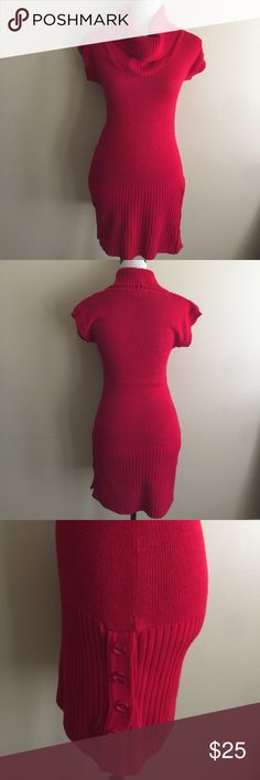 "SAY WHAT? red Sweater Dress Size Small Red sweater dress. Worn only one time. So still brand new. Length 26"".🎈Make an offer 🎈accepts most offers Say What? Dresses Midi"