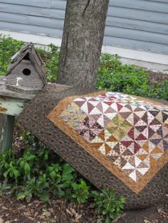 Pinwheels Civil War Quilt by thePATchworksshop on Etsy