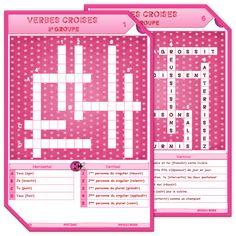 Mots croisés conjugaison jeu CE1 CE2 CM1 CM2