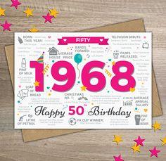 GRAN ANY 50TH 60TH 70TH etc FREEPOST BEAUTIFUL HAPPY BIRTHDAY MUM