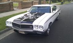 The 1970 Buick GSX Stage 1 was fast because it was and is LIGHT. In fact, the 1970 Buick Gran Sport GSX Stage engine weight was around 200 pounds less than the engines of similarly-sized Chevy or Chrysler muscle cars. Buick Gsx, Buick Cars, Buick Skylark, American Muscle Cars, Custom Cars, Motor Car, Dream Cars, Chevy, Classic Cars