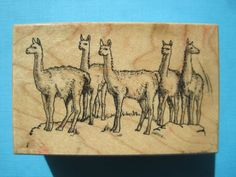 LLAMAS - PSX Rubber Stamp - F1290 Hoofed Pack Animal Camel Alpacas Rare Unique