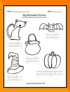 A variety of activity sheets on Halloween Season for preschools