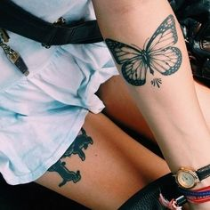 about Vintage Butterfly Tattoo on Pinterest | Butterfly print Vintage ...