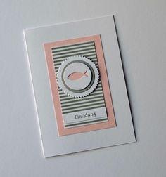 Einladungskarte Konfirmation/Kommunion von PapierGlanz auf DaWanda.com