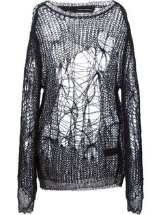 Shop Isabel Benenato distressed ripped open knit sweater in  from the world's best independent boutiques at farfetch.com. Shop 300 boutiques at one address.