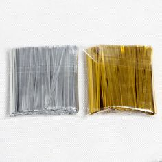 700Pcs/pack Gold/Silver Twist Ties Wire For Cake Pops Sealing Cello Bags Gifts Pack Fastener Sealing Party Supplies 8z #Affiliate
