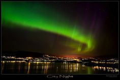 Aurora borealis over Bergen, Norway