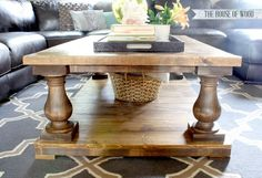 DIY baluster coffee table plans from ana-white.com              Follow Ana on Pinterest!     About Project  Author Notes:    Hello DIY Friends and Happy Monday! Pretty excited to share a brand new pla