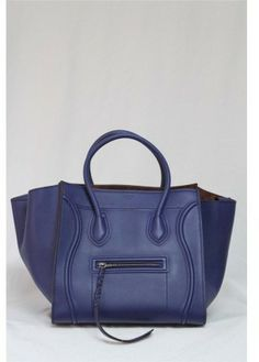 Celine pristine (PR 2013 Runway Indigo Blue Smooth Leather Phantom Bag on shopstyle.com