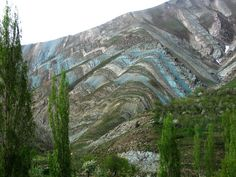 Incredible folding in the Tehran mountains