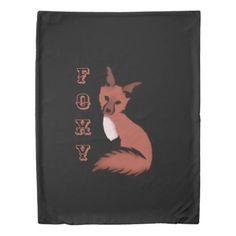 Beautiful Red Foxy Fox Duvet Cover - beautiful gift idea present diy cyo