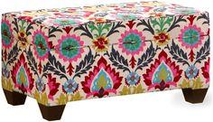 Skyline Furniture Storage Bench, Santa Maria Desert Flower