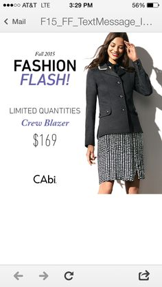 Book a Cabi show in August and pick one of these pcs at half price now.