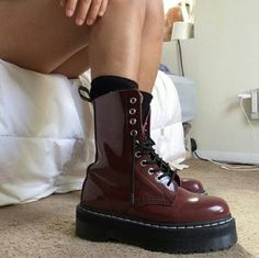 Rare Dr Martens Aggy 1490 Agyness Deyn 7uk Jadon OMFG! Super dope Doc Martens platform boots. One of the most awesome Dr Martens model there is: Aggy 1490. Rare, hard to find. Burgundy / oxblood, dark red. Designed by Agyness Deyn, limited edition. Miley Cirus made them famous. Unisex. 9US for ladies, 8US for men. Preloved condition. Interiors, soles and insoles are mint. Uppers have some scuffs at toes, nothing really noticiable as you can see in pics. Only detail is a tiny paint spot on…