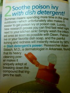 Poison Ivy Remedy Trying this tonight!!