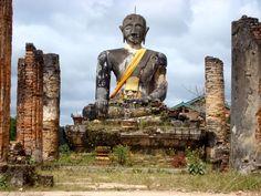 Travel & Adventures: Laos ( ເມືອງລາວ ). A voyage to Laos, Asia - Vientiane, Pakxe, Luang Prabang, Vang-Vieng, Savannakhet, Xam Nua, Ban Phonsavan ... Vientiane, Laos, Buddha, Asia, Statue, Country, Travel, Trips, Rural Area