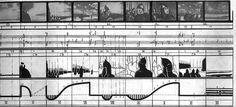 Sergei Eisenstein, sequences diagrams for Alexander Nevsky and...
