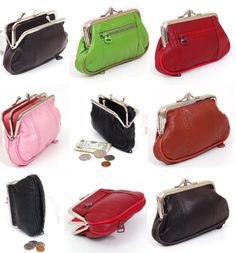 #ebay Leather Womens Wallet Metal Frame Coin Purse ID Credit Card Case Coin Purse Mini - $7.99 (save 47%) #sbrdesigns #wallets #womensaccessories