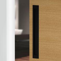 Matte Black | The Lock and Handle Sliding Door Handles, Front Door Handles, Black Door Handles, Pivot Doors, Sliding Doors, Slider Door, Modern Door, Black Doors, Steel Doors