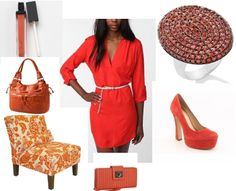 The new color trend for 2012—hot tangerine. I love this color because it shines happiness. (& orange is my favorite color!)