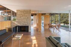 Richard Neutra - mid-century - roberts residence - living