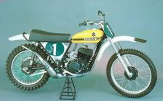Joel Robert's last championship winning Suzuki is owned today by collector Terry Good. Suzuki Motocross, Cafe Racer Motorcycle, Off Road Bikes, Dirt Bikes, Dirt Bike Magazine, Used Bikes, Japanese Motorcycle, Vintage Motocross, Thing 1
