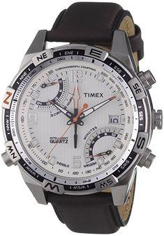 Shoppen Sie Timex Classic Herren-Armbanduhr XL IQ Fly-Back Chronograph Leder T49866 auf Amazon.de:Uhren