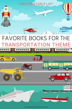 Here are my absolute favorite books for the preschool transportation theme! They are read during circle time, but are also displayed throughout the classroom for children to look at any time they wish. Transportation Theme For Toddlers, Transportation Preschool Activities, Transportation Activities, Pre K Activities, Preschool Books, Free Preschool, Preschool Printables, Children Activities, Toddler Circle Time