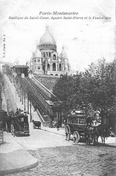 sacré coeur Montmartre - Paris Antique Photos, Vintage Photographs, Old Photos, Vintage Photos, Paris Vintage, Old Paris, Paris 1900, Montmartre Paris, Belle Epoque