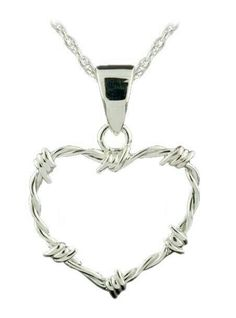 Barbed wire heart pendant SOMEONE GET ME THIS!!!!!!!!!!