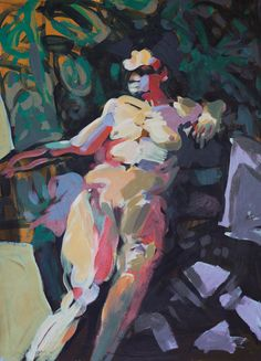 Figurative painting  Thursday Night with Mary by FigurataGallery, $300.00