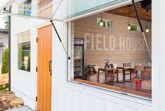 Expanse Pass Through Window System Cabana, Pass Through Window, Greater Toronto Area, Queenslander, Small Cafe, Modern Architecture House, Douglas Fir, House Design, Patio